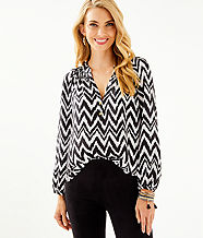 Elsa Silk Top, Onyx Get Your Chev On, large