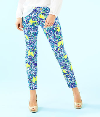"""29"""" Kelly Skinny Ankle Pant, Resort White Zest For Life, large"""