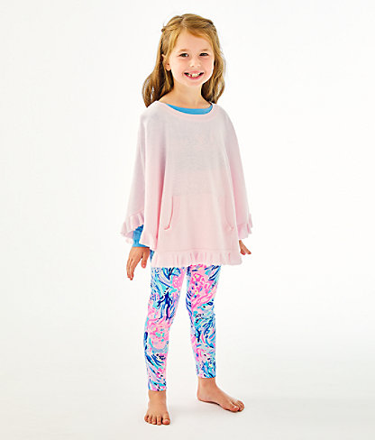 Girls Hani Poncho, Frosted Pink, large 0
