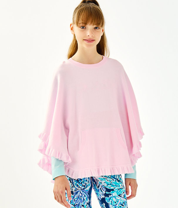 Girls Hani Poncho, Frosted Pink, large