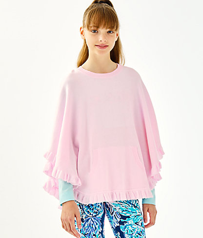 Girls Hani Poncho, Frosted Pink, large 1