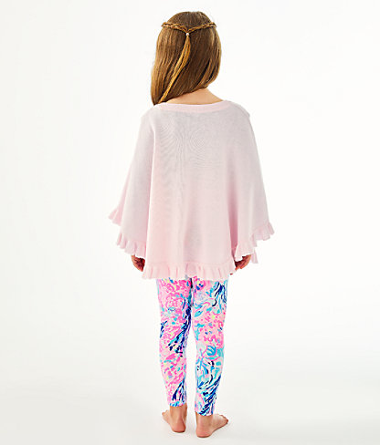 Girls Hani Poncho, Frosted Pink, large 2