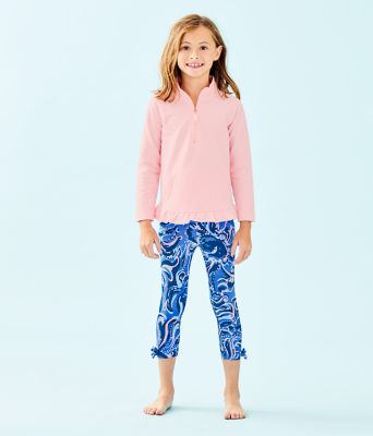 Girls Maia Legging, Coastal Blue Whispurr, large 0