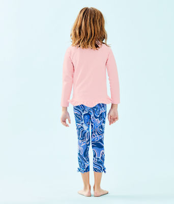 Girls Maia Legging, Coastal Blue Whispurr, large 1