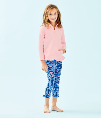 Girls Maia Legging, Coastal Blue Whispurr, large 2