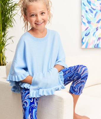 Girls Maia Legging, Coastal Blue Whispurr, large 3
