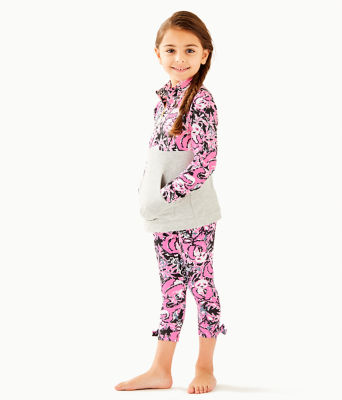 Girls Maia Legging, Hibiscus Pink Hangin With My Boo, large 2