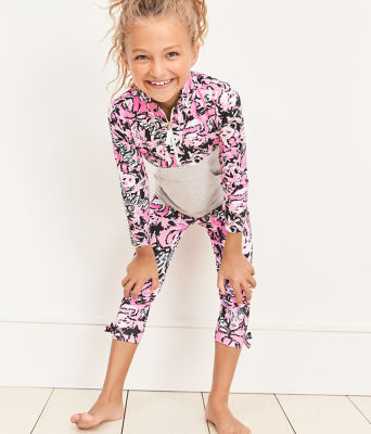 Girls Maia Legging, Hibiscus Pink Hangin With My Boo, large 3