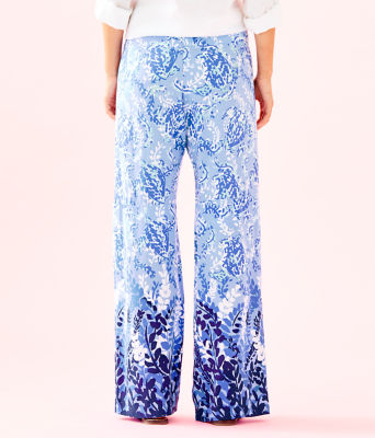 "33"" Bal Harbour Palazzo Pant, Blue Peri Turtley Awesome Engineered Pants, large 1"