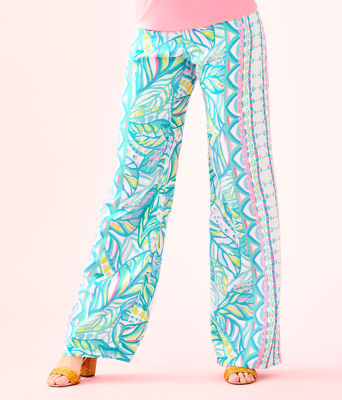 "33"" Bal Harbour Palazzo Pant, Multi Maraca My World Engineered Pants, large 0"