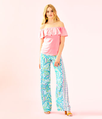 "33"" Bal Harbour Palazzo Pant, Multi Maraca My World Engineered Pants, large"
