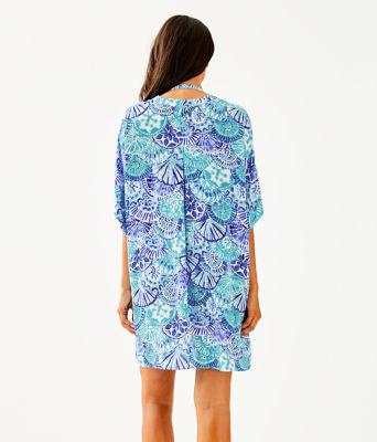 Leland Cover-Up, Turquoise Oasis Half Shell, large