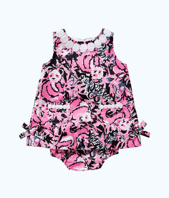 Baby Lilly Shift Dress, Hibiscus Pink Hangin With My Boo, large 0
