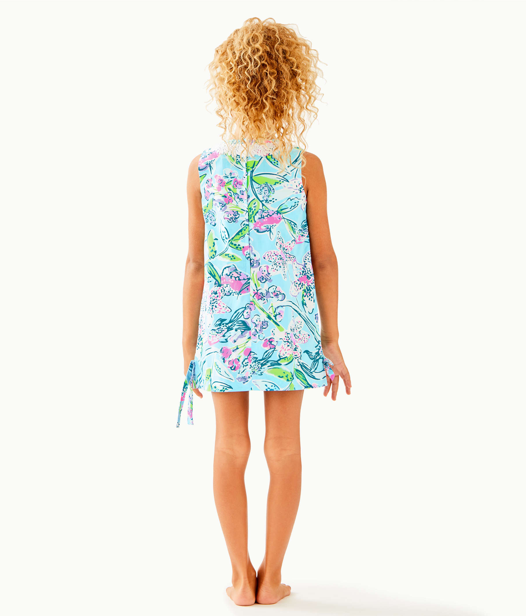 4143c44f7abc68 Girls Little Lilly Classic Shift Dress, Bali Blue Sway This Way, large ...