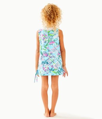 Girls Little Lilly Classic Shift Dress, Bali Blue Sway This Way, large