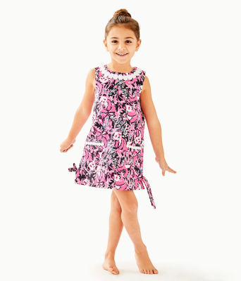Girls Little Lilly Classic Shift Dress, Hibiscus Pink Hangin With My Boo, large 0