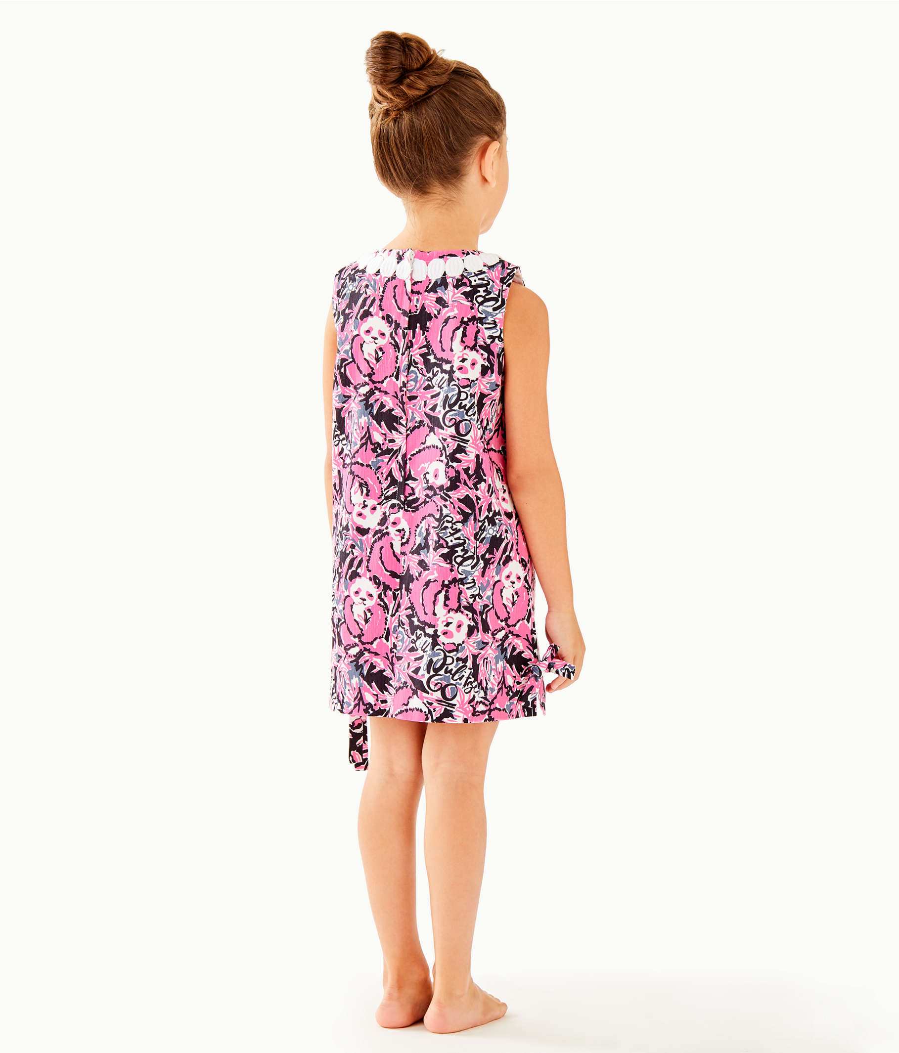 df9bbbd86ddbd8 Girls Little Lilly Classic Shift Dress, Hibiscus Pink Hangin With My Boo,  large ...
