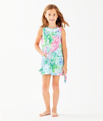 Girls Little Lilly Classic Shift Dress, Multi Bohemian Queen, large 0