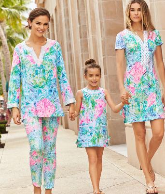 Girls Little Lilly Classic Shift Dress, Multi Bohemian Queen, large 2