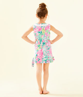 Girls Little Lilly Classic Shift Dress, Multi Hot On The Scene, large