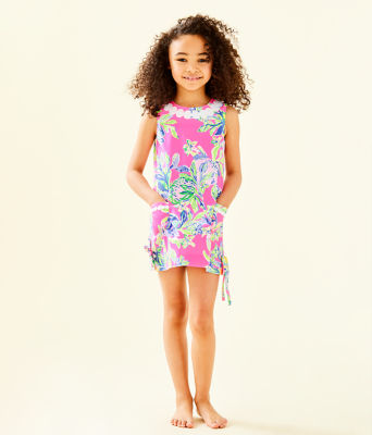Girls Little Lilly Classic Shift Dress, Multi Squeeze The Day, large 0