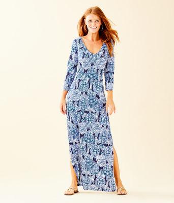 Anissa Maxi Dress, Deep Indigo Snap To It, large