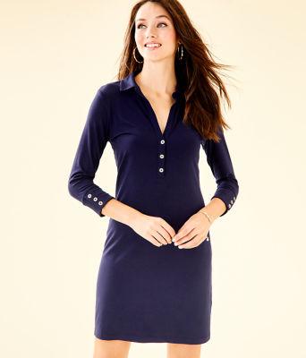 UPF 50+ Ansley Polo Dress, True Navy, large 0