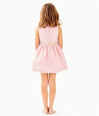 Girls Mini Franci Dress, Pink Tropics Lagoon Jacquard, large 1