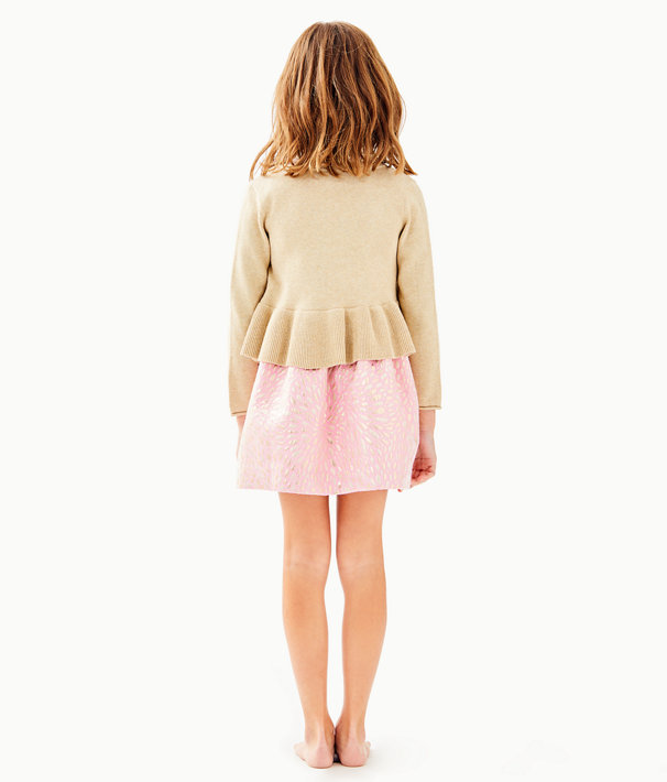 ebafe8f2c28ead ... Girls Adelaide Cardigan, Gold Metallic, large ...
