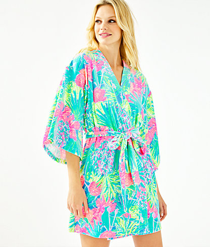 Elaine Velour Robe, Multi Swizzle In Reduced, large 0