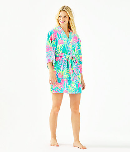 Elaine Velour Robe, Multi Swizzle In Reduced, large 3
