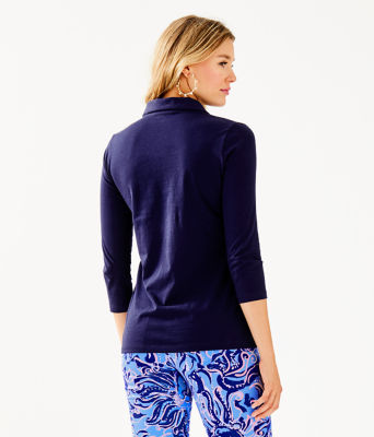 Ansley Polo Top, True Navy, large