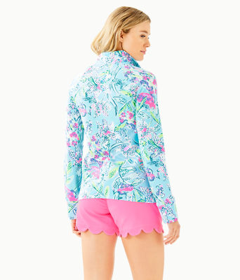 UPF 50+ Skipper Popover, Bali Blue Sway This Way, large 1