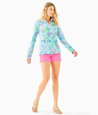 UPF 50+ Skipper Popover, Bali Blue Sway This Way, large 2