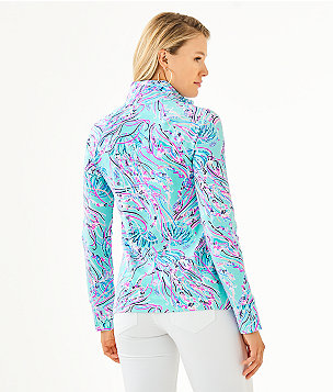 UPF 50+ Skipper Popover, Bayside Blue Under The Moon, large