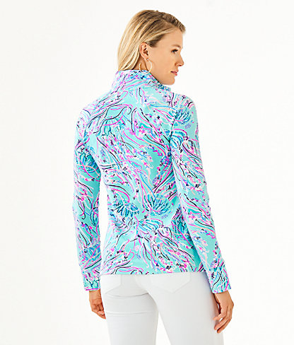 UPF 50+ Skipper Popover, Bayside Blue Under The Moon, large 1