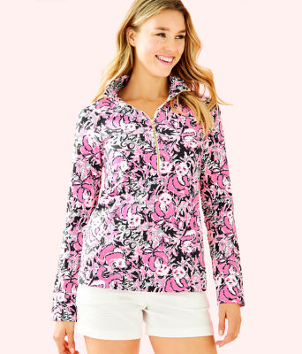 UPF 50+ Skipper Popover, Hibiscus Pink Hangin With My Boo, large 0