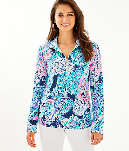 UPF 50+ Skipper Popover, High Tide Navy Party In Paradise, large 0