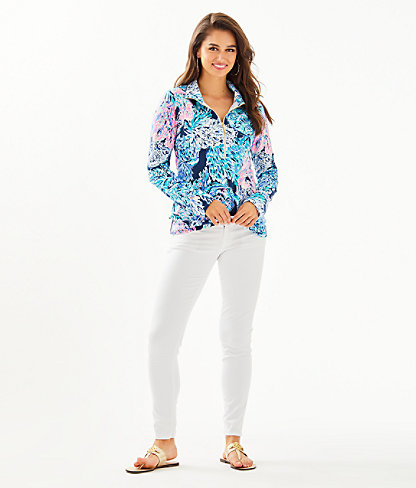 UPF 50+ Skipper Popover, High Tide Navy Party In Paradise, large 2