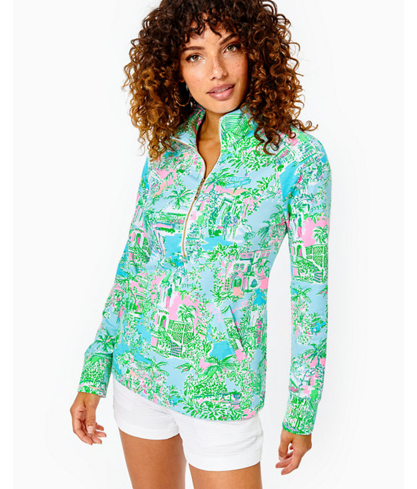 UPF 50+ Skipper Popover, Multi Lilly Loves Palm Beach, large