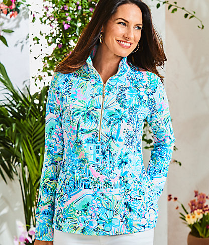 UPF 50+ Skipper Popover, Multi Lillys House, large 3
