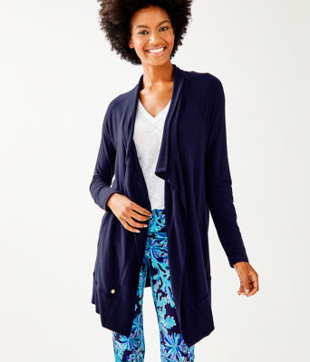 Luxletic Carmela Wrap, True Navy, large