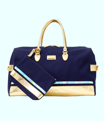Gypsea Weekender Bag and Pouch Set, Inky Navy, large 0