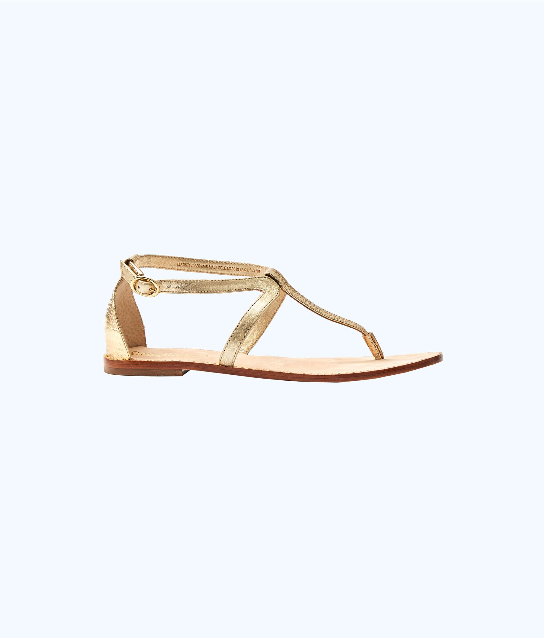 71db3cdf0 Heather T-Strap Sandal, Gold Metallic, large Zoom