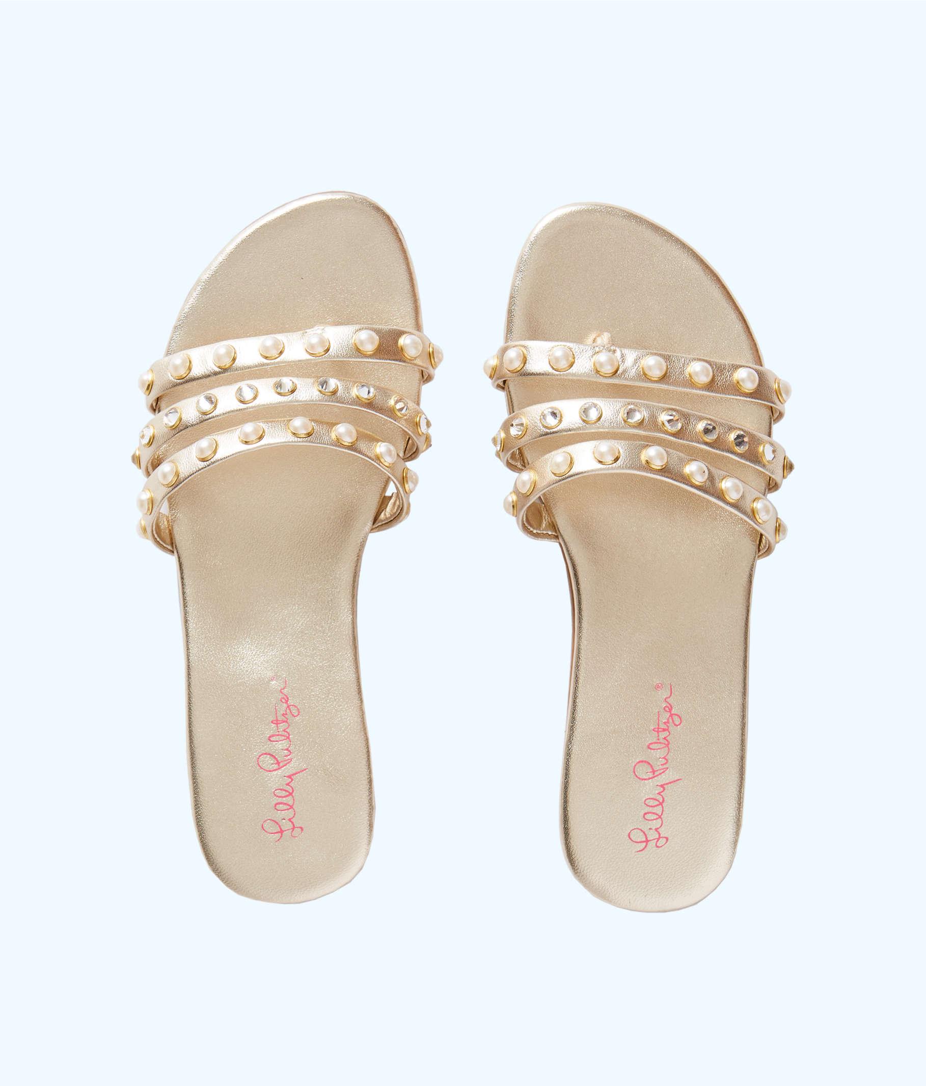 b7bab234165aad ... Tabbie Embellished Sandal, Gold Metallic, large ...