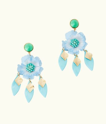 Garden Gem Statement Earrings, Bali Blue, large 0