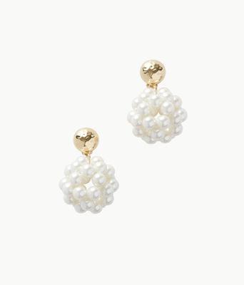 Caliente Clip On Earrings, Resort White, large 0
