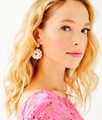 Caliente Clip On Earrings, Resort White, large