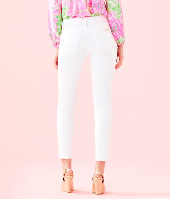 "29"" South Ocean Skinny Crop with Lace, Resort White, large"