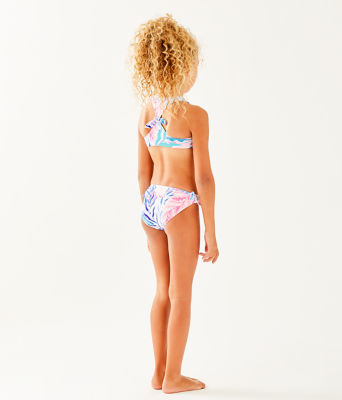 UPF 50+ Girls Maisie Bikini, Crew Blue Tint Kaleidoscope Coral, large